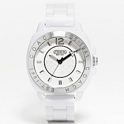 COACH BOYFRIEND PLASTIC BRACELET WATCH - WHITE - COACH W915