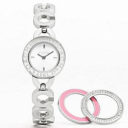 COACH KRISTY INTERCHANGEABLE BEZEL BRACELET WATCH - ONE COLOR - W918