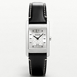 COACH CARLISLE STAINLESS STEEL STRAP WATCH - BLACK - W955