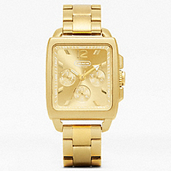 COACH COACH BOYFRIEND SQUARE GOLD PLATED BRACELET WATCH - ONE COLOR - W989