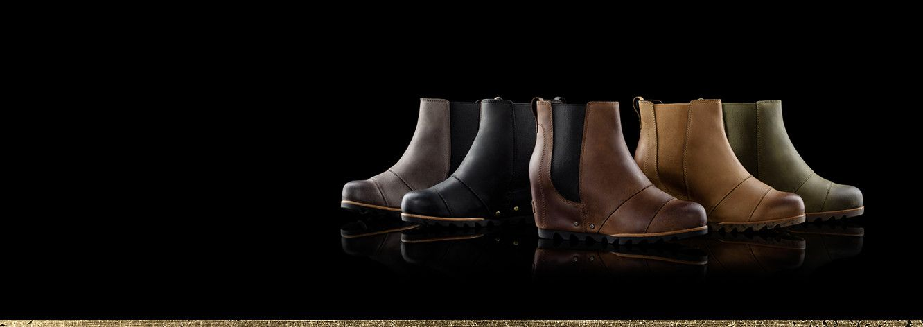 Five Lea Wedges in earth tone color arranged against a black background.