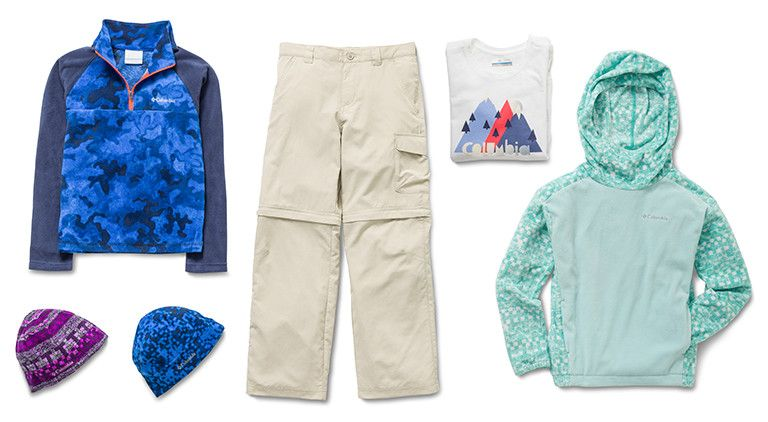 Columbia Sportswear shorts, pants and shirts for kids' going back to school