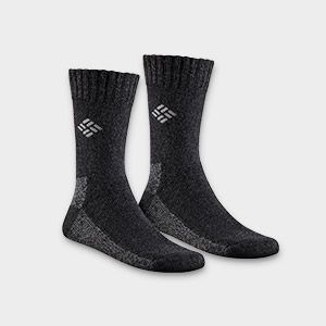 A pair of black socks.