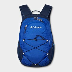 A blue backpack.