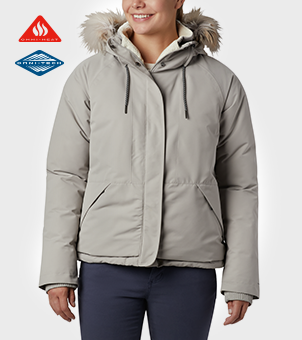 womens South Canyon Down Jacket in gray