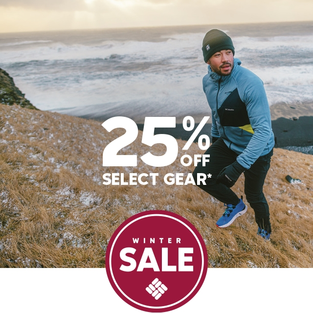 Winter sale. 25 percent off select gear.