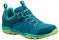 Women's Fire Venture Textile Shoe in turquoise with light green trim.