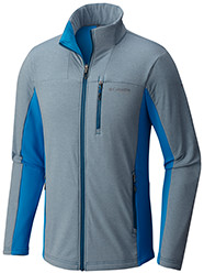 Men's Ghost Mountain Full Zip Jacket in gray and blue.