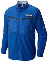 Men's Force 12 Zero Woven Long Sleeve Shirt in blue.
