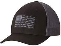 Black and gray PFG Mesh Ball Cap.