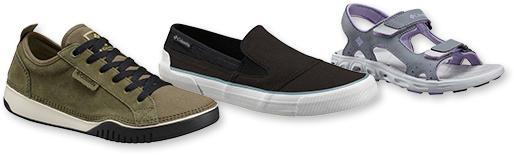 Columbia footwear for men, women and kids