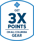 Get 3X points on all Columbia gear.