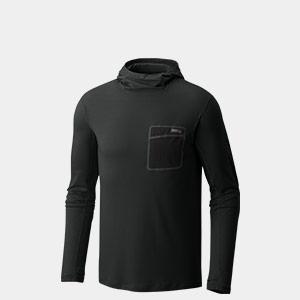 A black Mountain Hardwear long-sleeve shirt.