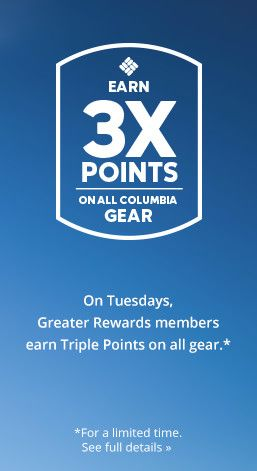 Earn triple points on all products