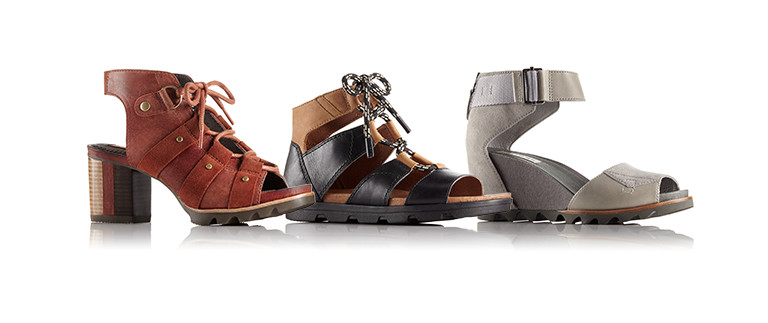 Three summer sandals.
