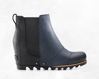 A Chelsea style wedge boot.