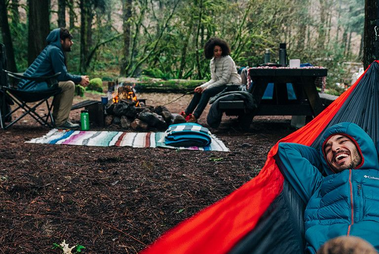 A group of friends camping