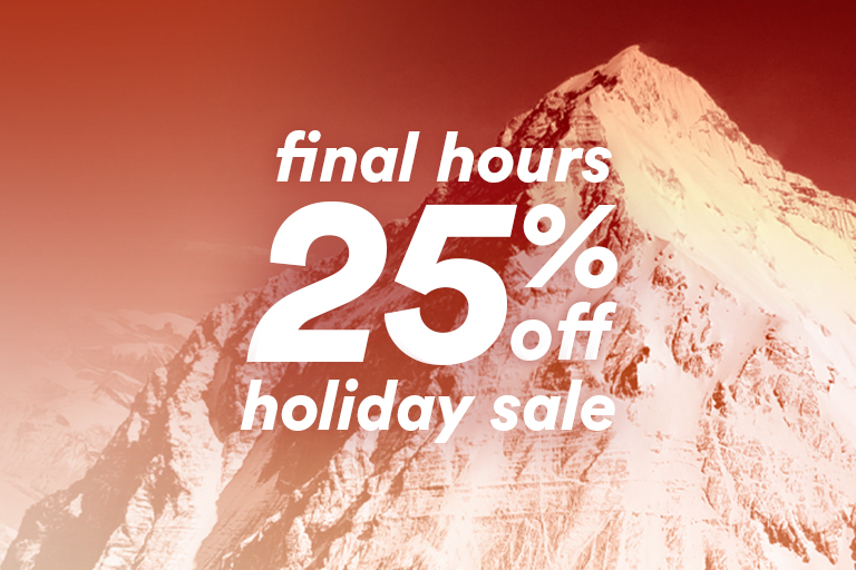 final hours 25% off holiday sale
