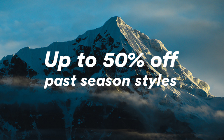 Up to 50% off past season styles