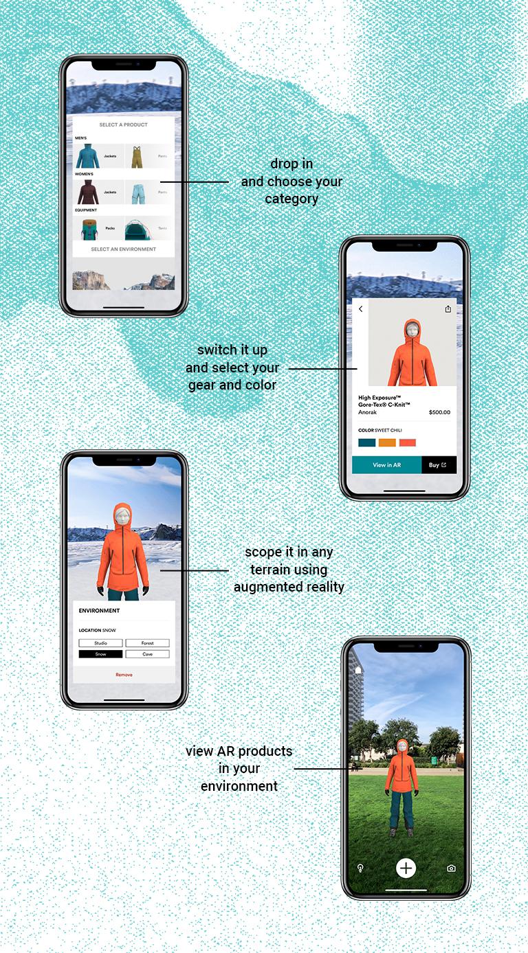 the mountain hardwear AR app