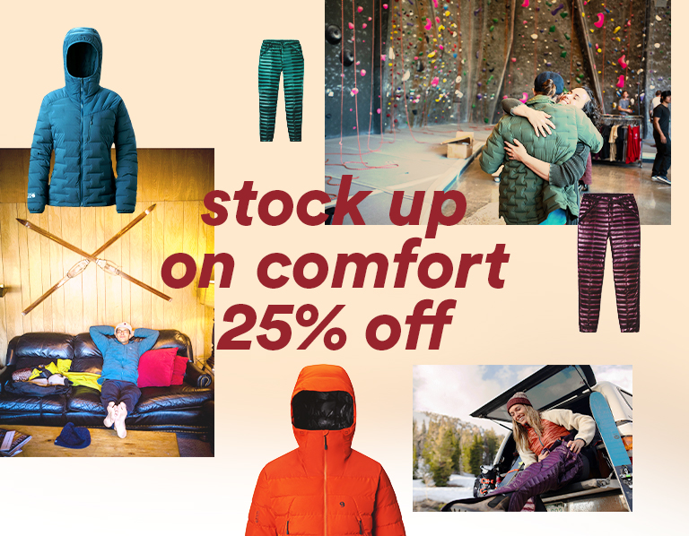 stock up on comfort 25% off