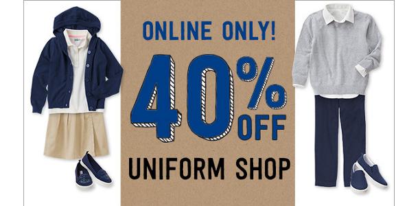 40% Off Uniform Styles