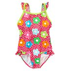 Flower Dot One-Piece Swimsuit