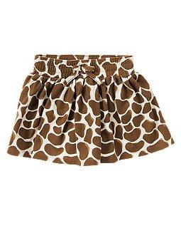 Giraffe Print Knit Skort
