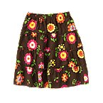 Flower Tiered Corduroy Skirt