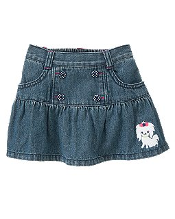 Puppy Denim Skort