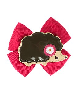 Hedgehog Bow Barrette