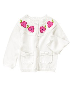 Blossom Bow Pocket Cardigan