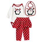 Penguin Bodysuit Bib 3-Piece Set