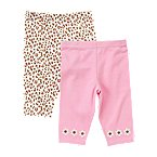 Flower Leopard Knit Pant 2-Pack