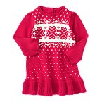 Heart Fair Isle Sweater Dress