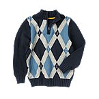 Argyle Half Zip Sweater