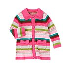 Bow Pocket Stripe Cardigan