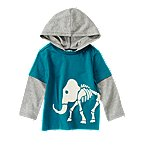 Woolly Mammoth Skeleton Hooded Tee