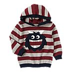 Monster Stripe Hooded Sweater