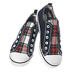 Plaid Flannel Laceless Sneaker