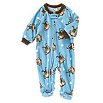 Monkey Microfleece Sleeper One-Piece