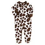 Cow Microfleece Sleeper One-Piece