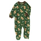 Puppy Bone Microfleece Sleeper One-Piece