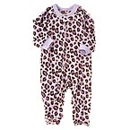 Leopard Microfleece Sleeper One-Piece