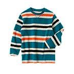 Stripe Ribbed Pullover
