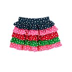 Dot Ruffle Tiered Skirt