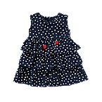 Strawberry Dot Tiered Dress