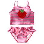 Strawberry Stripe Two-Piece Swimsuit