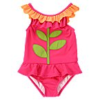 Flower Ruffle Swim Suit