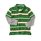 Stripe Double Sleeve Pique Polo Shirt